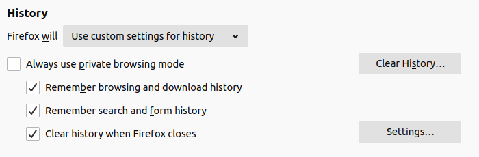 firefox history screenshot
